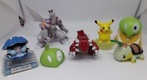 Lot Figurines Pokémon Groudon Palkia Pikachu Pouic Tortipouss Coquiperl B-12