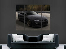 NISSAN SKYLINE POSTER R34 GTR BLACK FAST SPEED SUPER CAR RACING PRINT GIANT