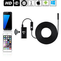 WiFi Endoscope Inspection Sink Camera - 1M Long - (iOS & Android Compatible)