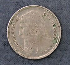 1909 Belgium Silver 2 Francs -- KM # 59 -- Lightly Circulated
