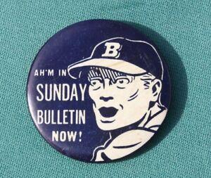 1950s Philadelphia Bulletin Newspaper Comic Strip OZARK IKE Baseball Player Pin