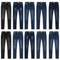 New Women Ladies Skinny Jeans Mid Rise Stretchable Soft Comfy 100% Denim Pants
