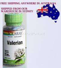 Valerian Solaray 470 mg per Capsule 100 V caps 1 Bottle  Rest Sleep Made in USA