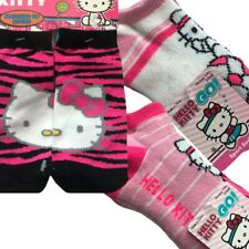 NEW Sanrio Hello Kitty Pack of 2 Pairs Girls Socks Fits Size 6-8.5 Lot Set