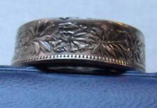 Swiss Silver Mens Coin Ring Size 12 or sized by request. Oak Leaf Clusters, 9g's