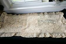 Superb Pair Antique French Alencon Lace Pillowcase Cover Large