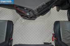 ECO LEATHER FLOOR SET- BEIGE, COMPATIBLE WITH VOLVO FH 4 2013+[TWIN AIR SEATS]