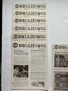 Dollhouse Newsletter Dollhouse Clubs of America 1965-66, Full Of Patterns/Info