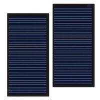 2 Pz Mini Pannello Solare Kit Fai Da Te Intelligente Caricare Cellulare