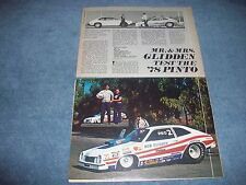 1978 Ford Pinto Hatchback Bob Glidden Pro Stocker Vintage Info Article
