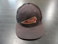 Lucky Brand Triumph Strap Back Hat Cap Brown Motorcycle Biker Adjustable Mens A3