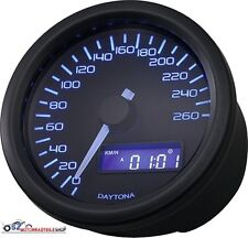DAYTONA Tacho Velona Dark Sport Schwarz LED Blau Cockpit Tacho Custom