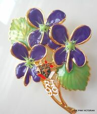 "KNIGHTS OF COLUMBUS large 3"" RHODE ISLAND 1999 purple VIOLETS pin BROOCH PK-2"