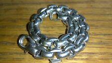 """Solid 18k white gold FOPE bracelet 23.61 grams 7.5"""" long"""