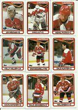 1990 Toppps Washington Capitals Team Set! Hrivnak, Liut, Hunter, Leach, Druce!