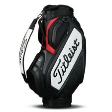 NEW 2018 Titleist Mid Staff Golf Cart Bag TB7SF4-061 Black White Red