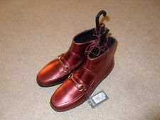 Primark metallic rust orange red ladies ankle boots - size 5