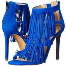 Steve Madden Cobalt Blue Fringe Sandals. UK 6, Eur 39. Never been worn RRP $160
