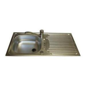 Euroline Caravan Stainless Steel Sink & Drainer 860mm x 435mm
