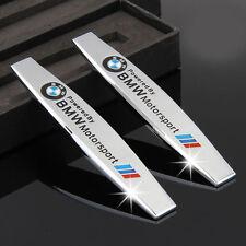 2Pcs Chrome Metal Car Sticker Decal Emblem Badge Accessories for BMW M3 M5 i3 X3