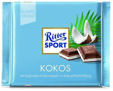 15 x RITTER SPORT KOKOS COCONUT CHOCOLATE - FROM GERMANY ! RITTERSPORT CANDY