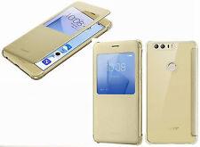 originale Huawei onore 8 FLIP VIEW COVER CUSTODIA CASE PROTETTIVA ORO