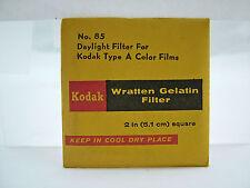 KODAK NO. 85 WRATTEN GELATIN CAMERA FILTER 2 INCH (5.1 cm) SQUARE (SEALED)