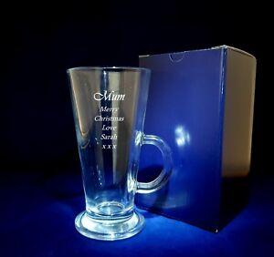 PERSONALISED ENGRAVED LATTE GLASS Mum Birthday Mum christmas gift mother gift