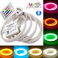 1m-100m LED Strip 220V Neon Flex Rope Light Waterproof Flexible Lighting Outdoor