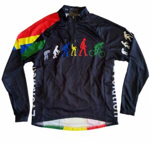 OCG Cycling Jersey Evolution multicolor Long Sleeve Shirt Mens XS