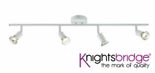 White 4 Bar Spotlight Kitchen Utility Office FREE LAMPS INCLUDED Knightsbridge