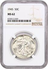 1945 50c NGC MS62 - Walking Liberty Half Dollar