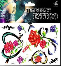 RosenTattoo 1 Bogen Fake Tattoo einmal Tattu tatoo tatto temporary Liebesherz