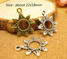 Wholesale Alloy Sun Beads Tibetan Silver Charms Pendant DIY Bracelet