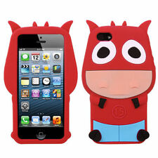 For Apple iPhone 5 5S SE Rubber SILICONE Soft Gel Skin Case Phone Cover Red Ox