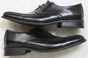 J. Ferrar Black Men's Dress Shoes 12M Twelve Solid Leather Lining Man Made Upper