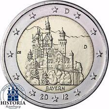 SERRATURA neuschwans Tein 2 Euro Germania 2012 Banca freschi Baviera MZZ D