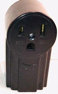 VINTAGE NOS EAGLE 250 VOLT 50A 2-pole 3-wire ELECTRIC OUTLET RECEPTACLE Unused