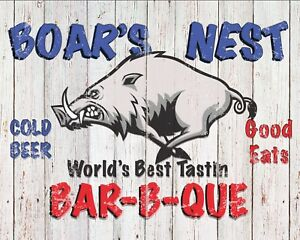 vintage Boar's Nest. 12 x 16 in aluminum sign