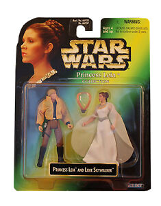 Star Wars POTF Princess Leia Collection Princess Leia and Luke Skywalker Figure
