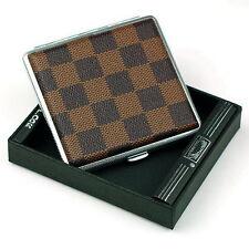 Chessboard Style Cigarette Case Box Hold For 20 Cigarettes 300B