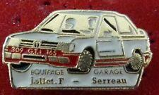 RARE PIN'S PEUGEOT 309 GTI 16 S RALLYE EQUIPAGE JAILLET F. SERREAU