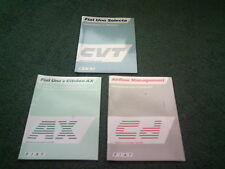 1987 Fiat UNO inc CVT Citroen AX 3x DIFFERENT SALESMANS DEALER ONLY UK BROCHURE