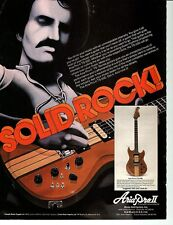 ARIA PRO II GUITAR PINUP PRINT AD vtg early 80's TS500