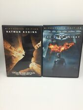 Batman Nolan DVD Set: Batman Begins & Dark Knight Lot