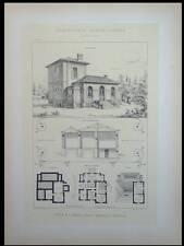 VILLA A BEZIERS  - 1895 - GRANDE LITHOGRAPHIE- WINCKLER