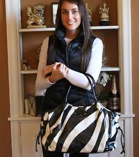 CLASSIC Kate Spade Stevie Nylon Baby Bag - Zebra Print VINTAGE HTF PATTERN