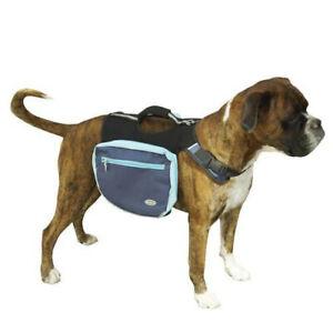 Alforja mochila de transporte para perros azul con bolsas laterales