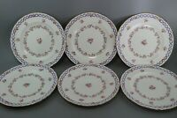 Set of 6 Royal Crown Derby Roses A8278 Dinner Plate1908