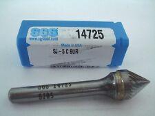 """SGS Carbide Cone Bur 1/2"""" Point x 1/4"""" Shank SJ-5 14725 -9770E172"""